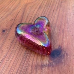 Robert Held Art Glass Heart